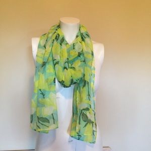 J.Crew Factory yellow floral scarf